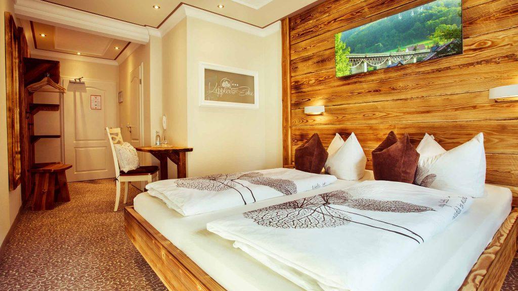 Hotel Keppler´s Ecke - Hotelzimmer mit Doppelbett